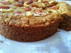 Whole wheat Oats Cake (eggless)