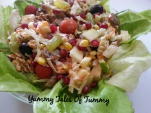 Waldorf Salad with interesting twist
