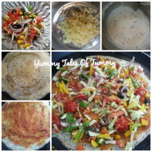 Pizza Dosa   Italian Dosa