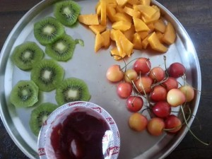 Bread pastry   Sandwich with fresh fruits and nuts