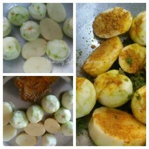 Bharvaan Tinde Alu | Stuffed Apple Gourd