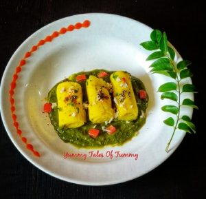 Khandvi in Microwave in 7 minutes