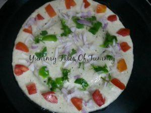 Puffed rice Uttapam  Murmura Uttapam