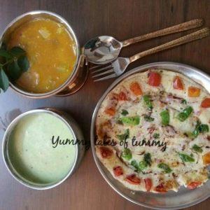 Puffed rice Uttapam | Murmura Uttapam