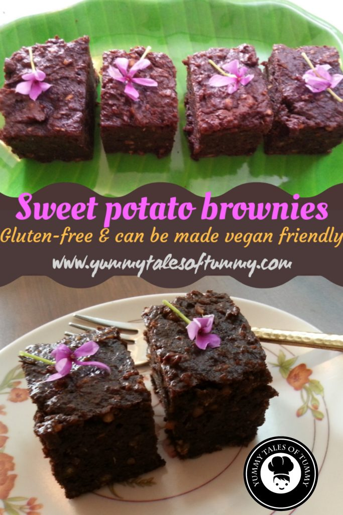 Grain free Sweet Potato Brownies