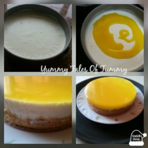 Virgin Pinacolada no bake Eggless Cheesecake