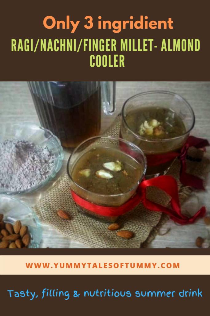 Ragi/Finger millet Almond Cooler