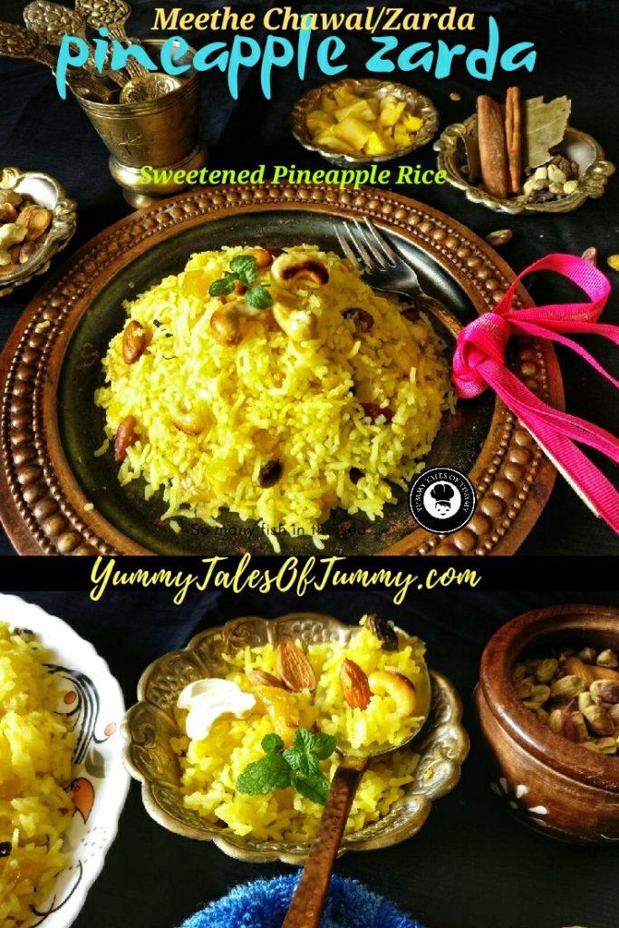 Pineapple Zarda recipe | Sweetened Rice