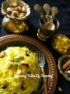 Pineapple zarda | Sweetned rice