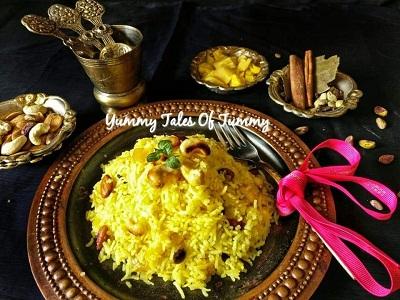 Pineapple Zarda | Sweetened Rice
