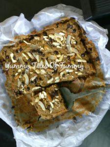 Black eyed Bean/Sukhi Choulai Blondies
