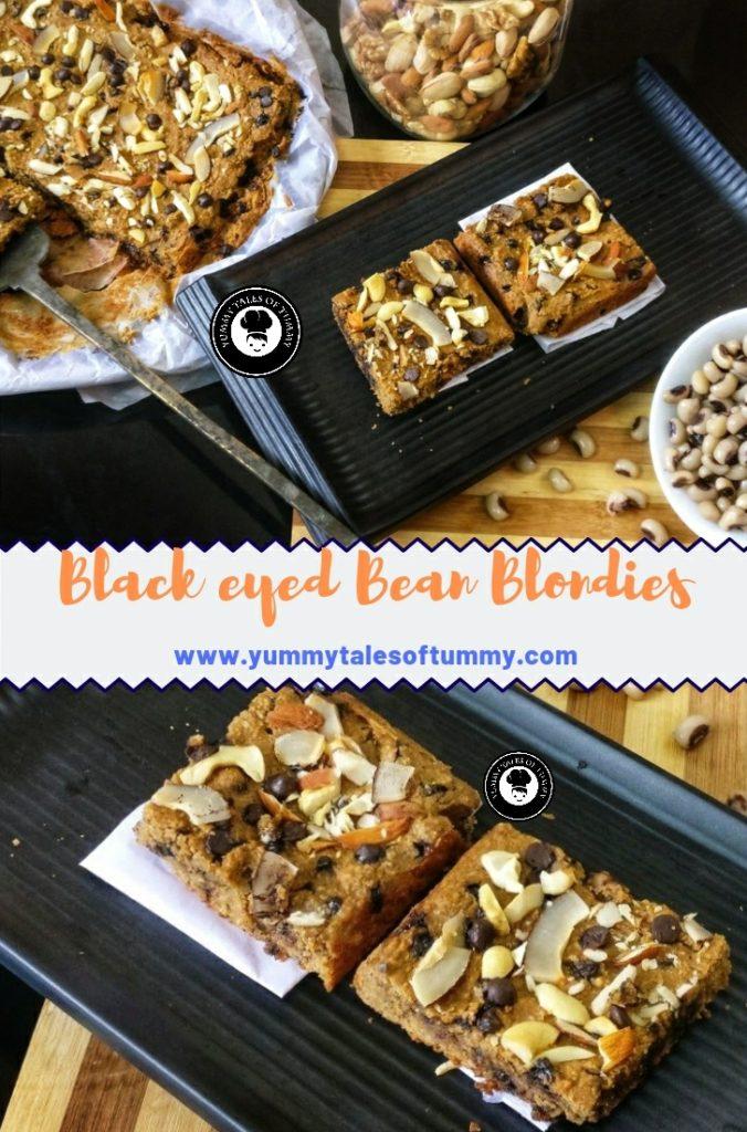 Black eyed Bean Blondies