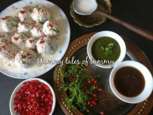 Leftover dough Dahi vadas