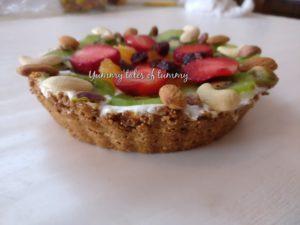 Rajgira Fruit Tart | Amaranth Fruit Tart | No bake fruit tart