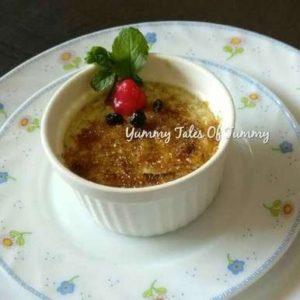 Eggless Rajgira  Crème Brûlée Recipe