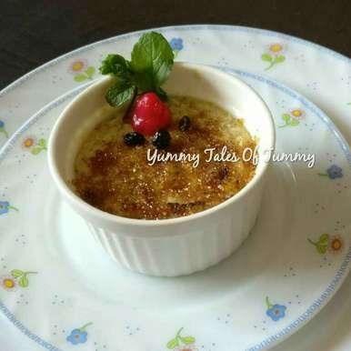 You are currently viewing Eggless Rajgira  Crème Brûlée Recipe
