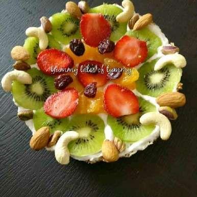Rajgira Fruit Tart | Amaranth Fruit Tart