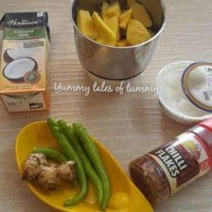 Thai style Mango Chilli Cold Soup