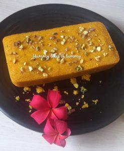 Mango Semolina Cake | Mango Sooji cake