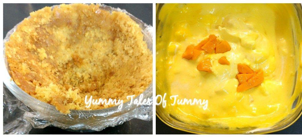 Delicious Mango Dome dessert