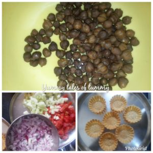 Kala Chana Salad Canapes