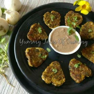 Onion Herb Kababs with chatpata dip