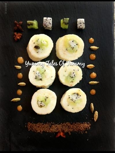 Fruit Sushi Recipe (Frushi) | Rice kheer Sushi