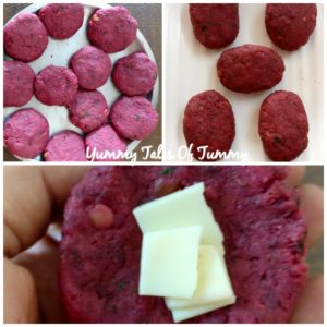 Cheesy Beetroot Tikkis | Bengali style Vegetable Cheese Chops
