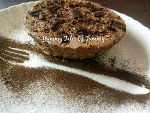 Coconut crust coffee mousse pie