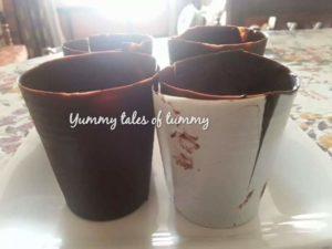 Brownie Rabdi edible Chocolate Flower Pot