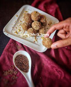 Alsi Pinni Recipe   Flaxseed Ladoo