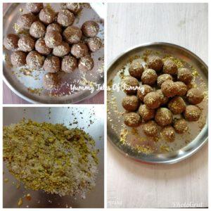 Alsi Pinni Recipe   Flaxseed Ladoo in the making
