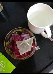 Leftover onion peel tea