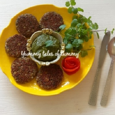 Sprouted Ragi & Chicken Cutlets