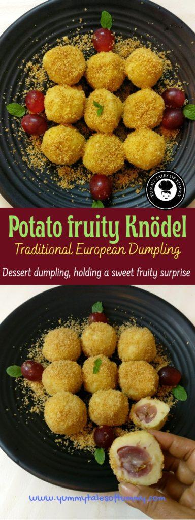 Potato fruity Knodel