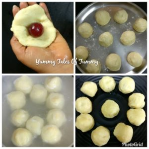 Potato fruity Knödel