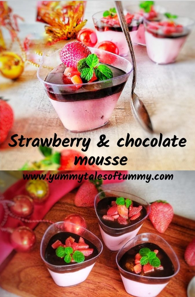 Strawberry and Chocolate Mousse