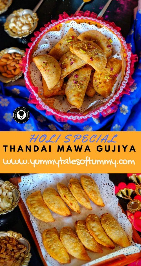 Thandai Gujiya | Ghujiya | Thandai handpies