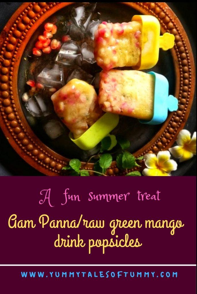 Aam Panna | Raw green mango drink Popsicles