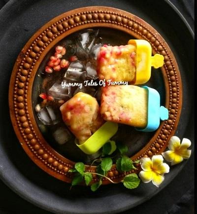 Aam panna / Raw green mango popsicles
