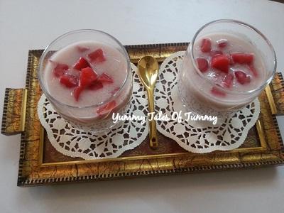 Tub tim grob | Red rubies thai dessert
