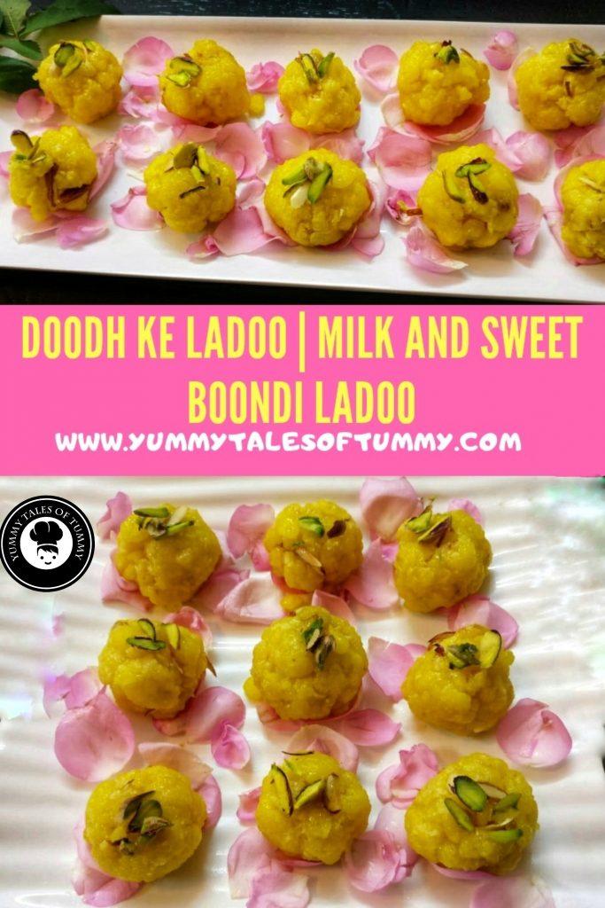 Doodh ke ladoo | Milk and Sweet Boondi Ladoo