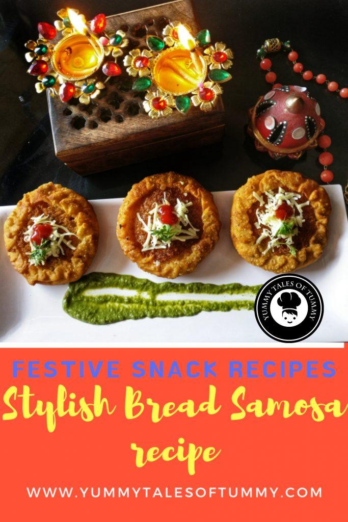 Stylish Bread samosa recipe