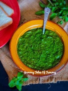 Green Chutney Recipe   Dhania Pudina Chutney