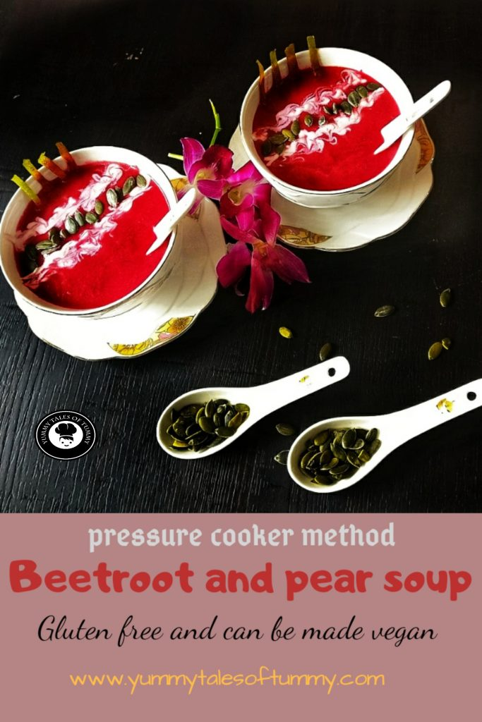 Beetroot soup | Beetroot Pear soup