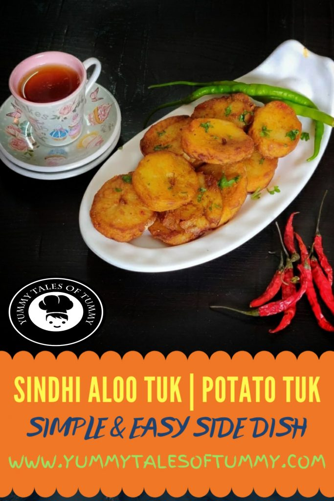Sindhi Aloo Tuk   Potato tuk