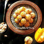 Mango ladoo recipe | Mango lava laddu recipe