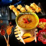 Pav bhaji Fondue | Pav bhaji fondue recipe