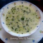 Broccoli potato spring onion soup | Brocolli soup