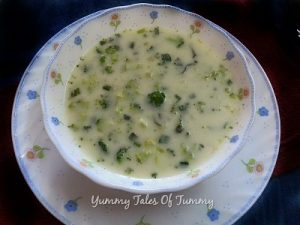 Read more about the article Broccoli potato spring onion soup | Brocolli soup